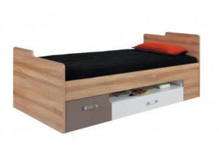 Jednolůžková postel s úložnými šuplíky