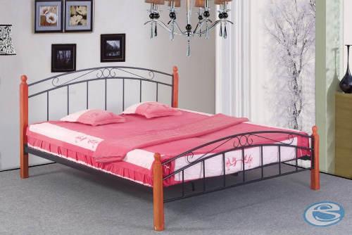 Kovová postel 140x200 je včetně lamelového roštu