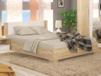 Manželská postel 160 cm  Dub Sonoma