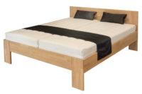 Masivní buková dvoulůžková postel Vento