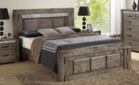 Masivní manželská postel charcoal grey 180x200 cm