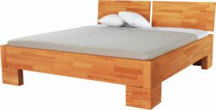 Masivní zvýšená postel jádrový buk