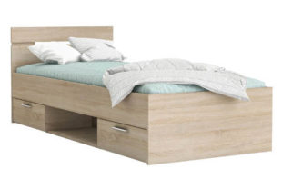 Multifunkční postel 90x200 dub Sonoma