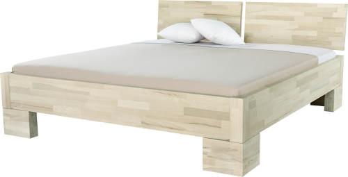 Světla buková masivní postel