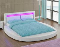 Ultramoderní manželská kulatá postel s LED osvětlením