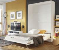 Výklopná dvoulůžková postel do skříně