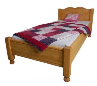 Dřevěná retro postel Kamila