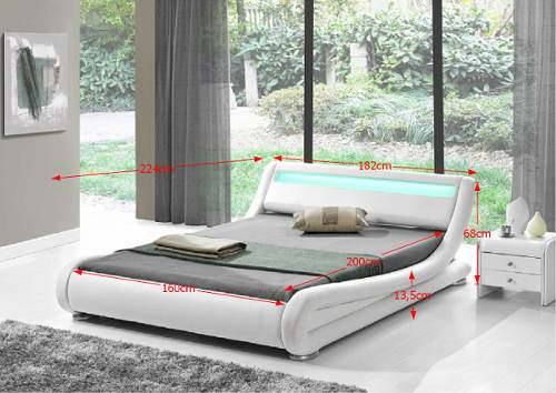 Futuristická postel 160x200 cm