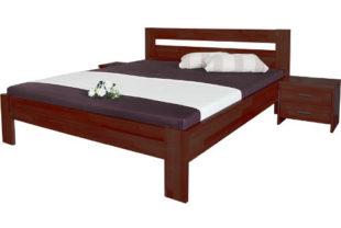 Jednolůžková postel Vitalia slovenské výroby z masivního bukového dřeva