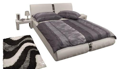 Manželská postel ekokůže a kov