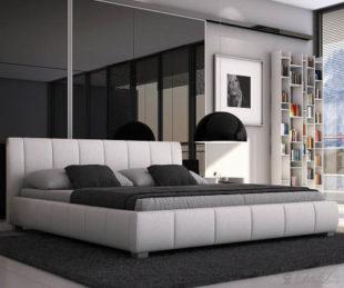 Nízká futonová čalouněná postel Malibu