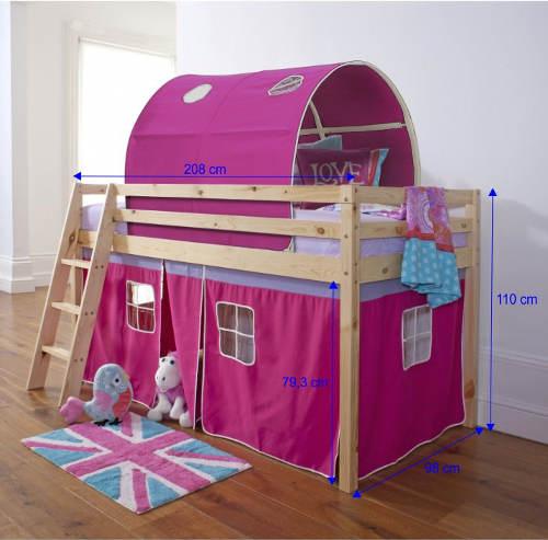 Rozměry dívčího hradu s postelí