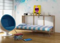 Sklápěcí postel do malého dětského pokoje