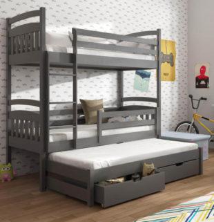 Dětská patrová postel s přistýlkou