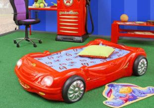 Dětská plastová postel auto