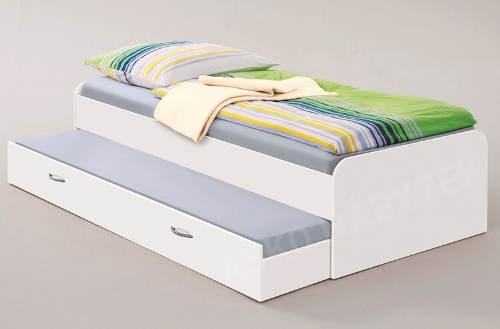 Jednolůžková postel s přídavným výsuvným lůžkem