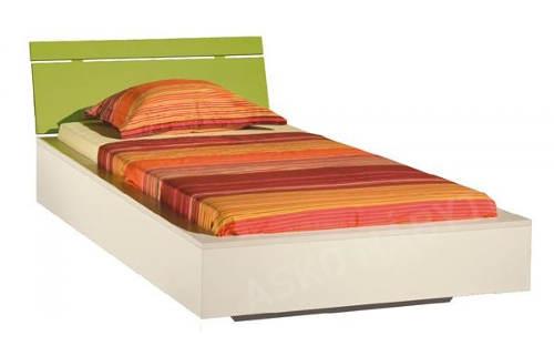 Jednolůžková studentská postel se stabilní dřevěnou konstrukcí