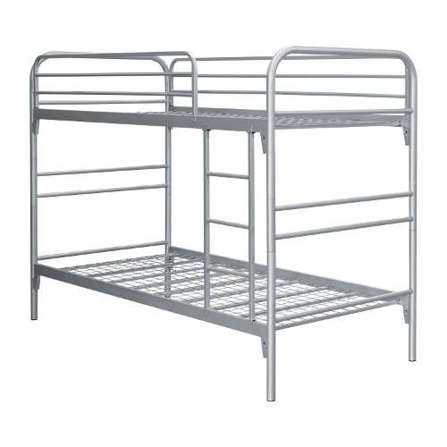 Kovová patrová postel s kovovými rošty