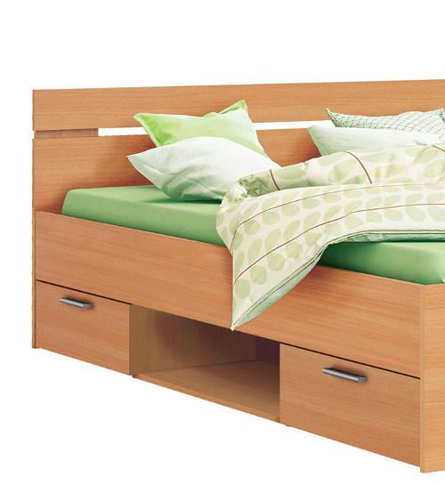 Manželská postel s uložnými šuplíky