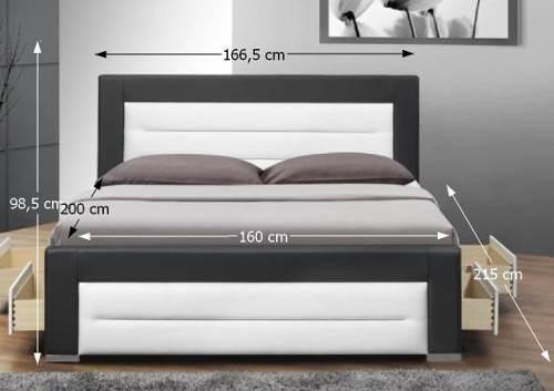 Moderní čalouněná postel 160x200 cm