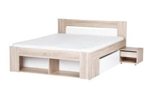 Moderní manželská postel s nočními stolky