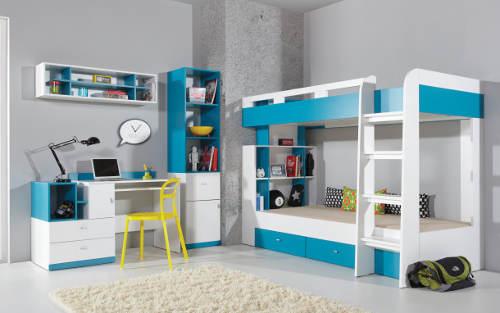 Modro-bílý dětský pokojíček