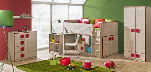 Multifunkční postel v holčičím pokoji
