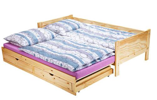 Rozkládací postel masiv borovice