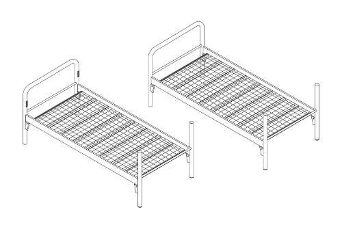 Rozložitelná kovová poschoďová postel 90x200 cm