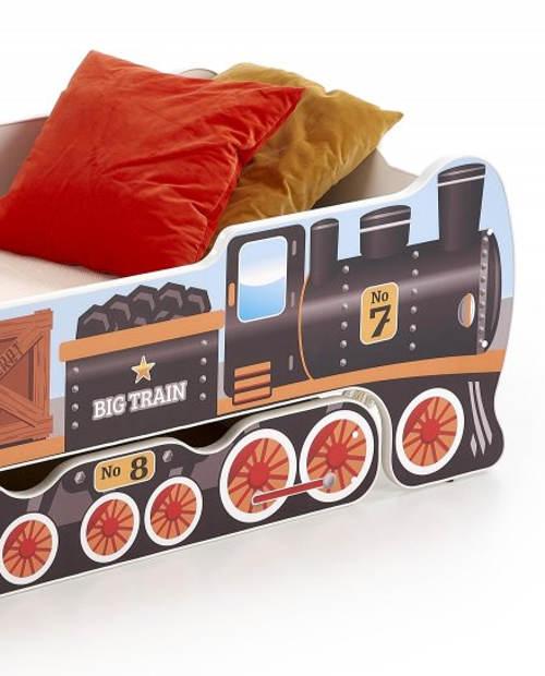 Dětská postel lokomotiva