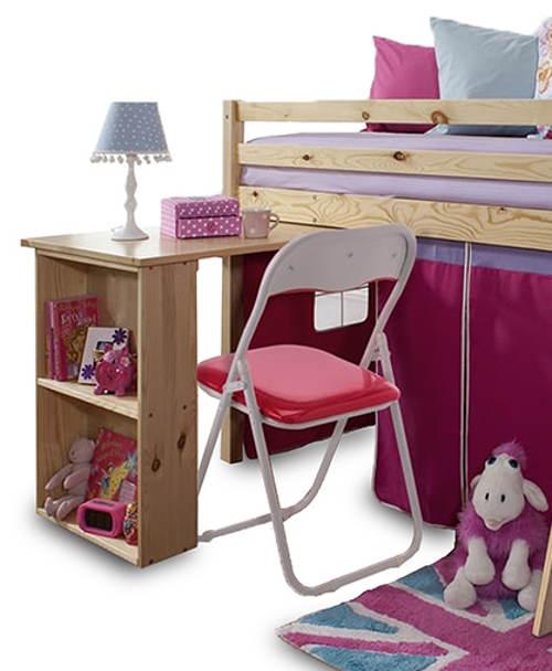 Dívčí multifunkční postel s pracovním stolkem