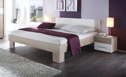 Futonová manželská postel 180x200 s nočními stolky