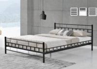Levná černá kovová postel Malta 140 x 200 cm