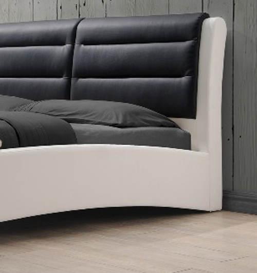 Kožená postel do moderní ložnice