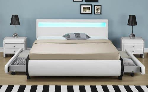 Moderní postel s úložnými prostory