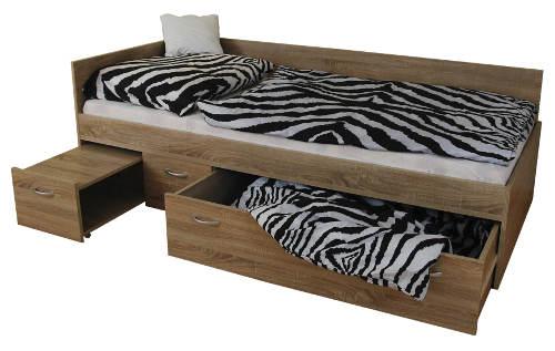 Studentská postel s velkou výsuvnou zásuvkou