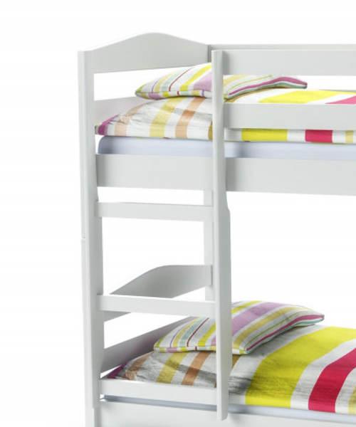 Bílá patrová postel pro holky