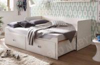 Bílá rozkládací postel Bergen