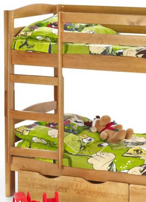 Borovicová patrová postel do klučičího pokoje
