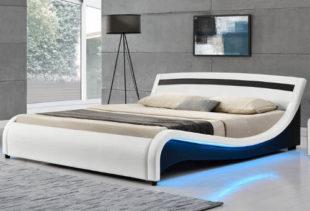 Moderní ergonomická postel Malaga s LED osvětlením