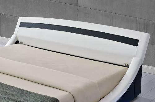 Moderní postel potažená eko kůží