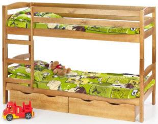 Patrová dětská postel včetně matrací