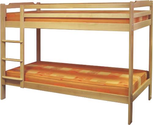 Patrová postel z bukového masivu GULIVER 90x200 cm