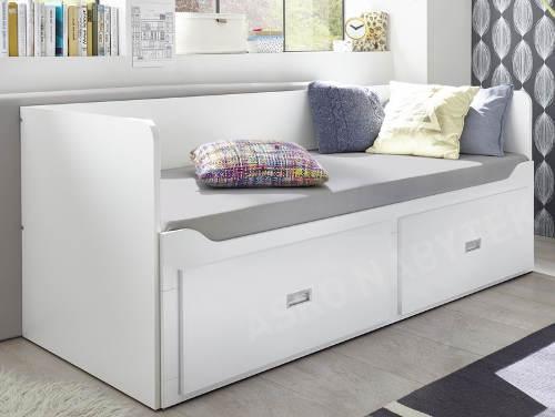 Rozkládací postel s úložnými šuplíky