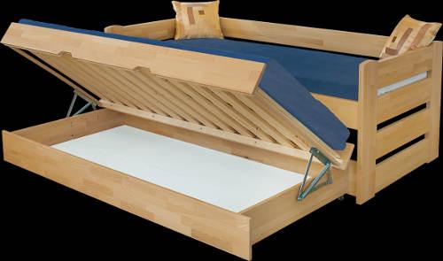 Úložný prostor v přistýlce postele