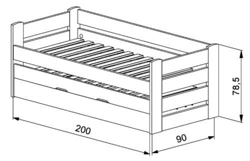 Zvýšená dětská rozkládací postel