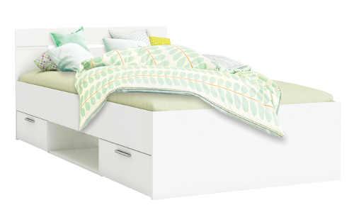 Bílá multifunkční studentská postel