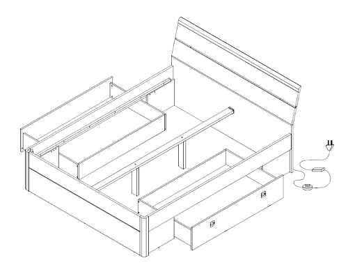 Konstrukční nákres postele Maestro