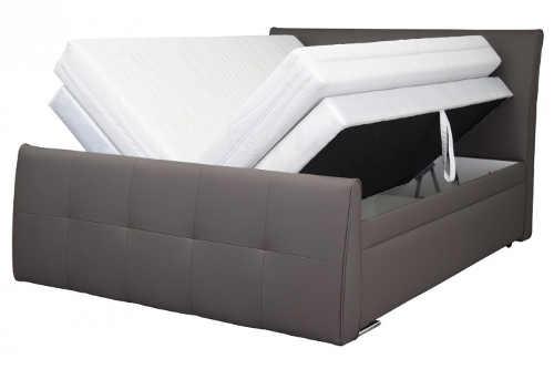 Kožená americká postel s úložnými prostory