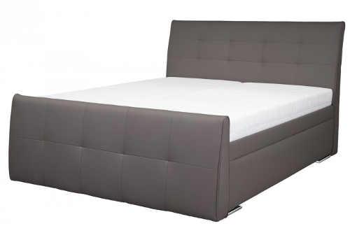 Luxusní manželská postel ekokůže